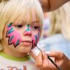 Рисунки на лицах детей красками