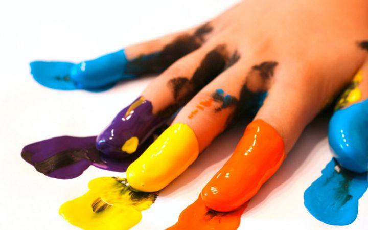Пальчиковые краски для детей. Своими руками