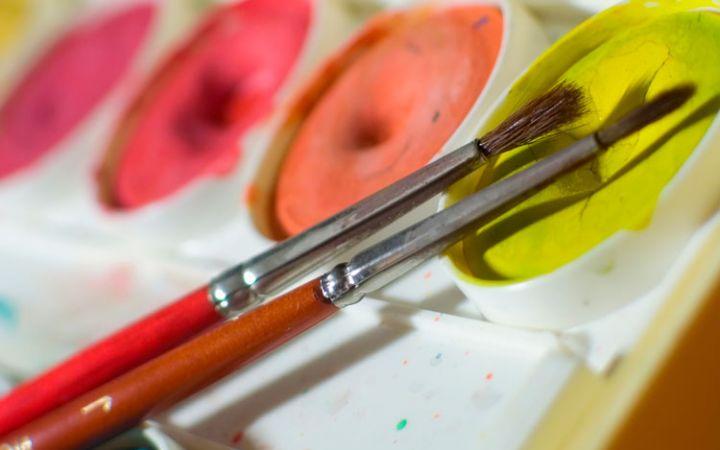 Техника рисования красками