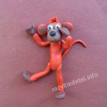 Огненная обезьяна из пластилина своими руками