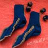 Носки на двух спицах, простой способ вязки
