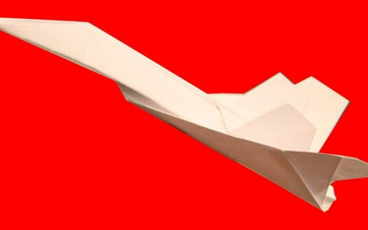 Как сделать самолет высоко летающий из бумаги