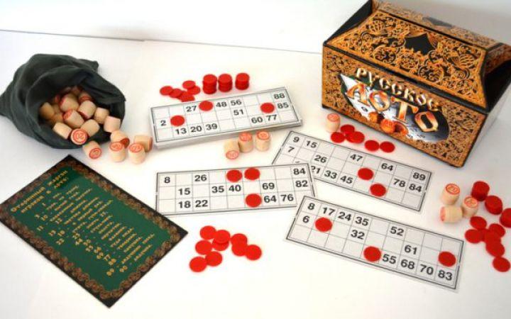 Семейные настольные игры: русское лото