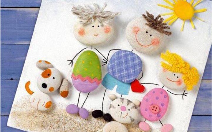 Поделки из камней и ракушек вместе с детьми