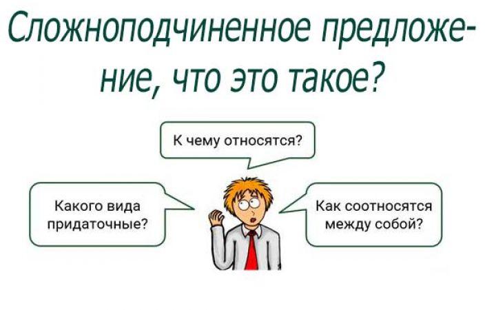 Русский язык: сложноподчиненное предложение