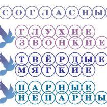 Русский язык: согласные звуки