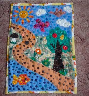 Детский коврик своими руками фото