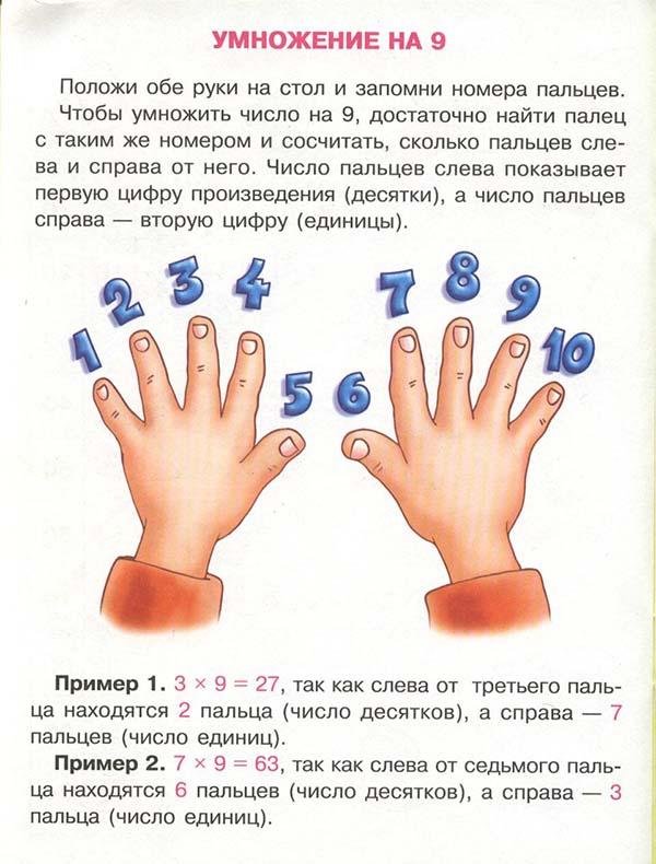 умножение на 9