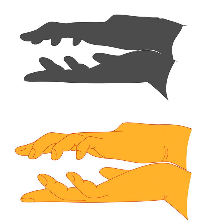 Как сделать тени своими руками видео
