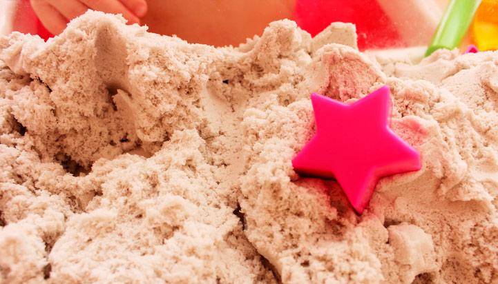 Как сделать кинетический песок домашних условиях без песка 456