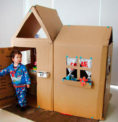 Кукольный дом из коробки
