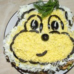 Салат обезьянка на Новый год
