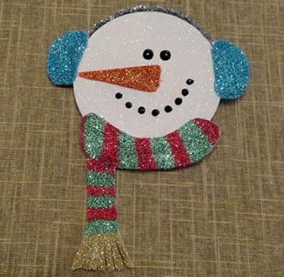 снеговик из дисков