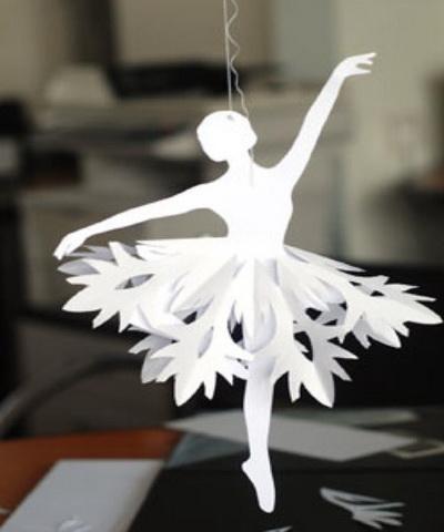 балерина из бумаги поделка