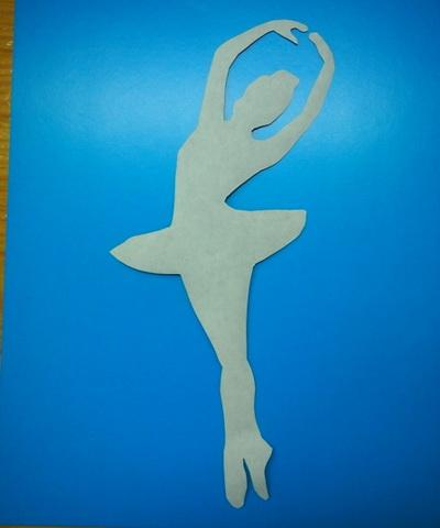 балерина из бумаги