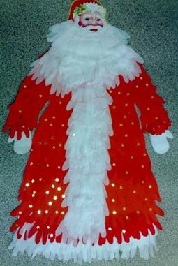 Дед Мороз из ладошек