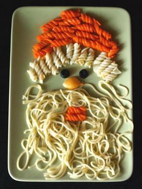 Дед Мороз из макарон