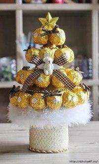 конфеты в форме ёлочки