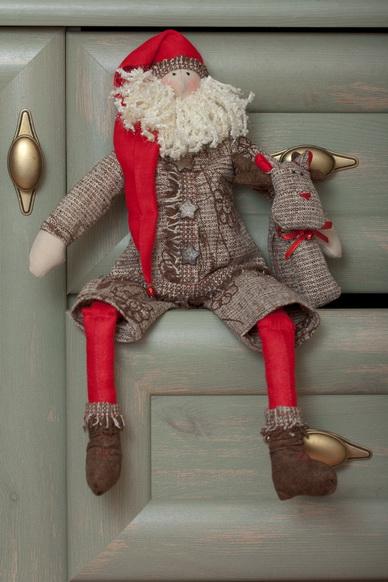 кукла в стиле тильда сантаклаус