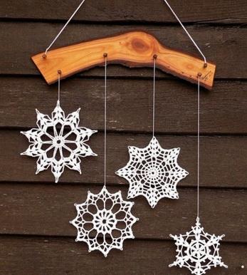 снежинки вязанные крючком