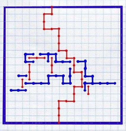 игра на бумаге змейка