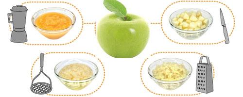 зеленое яблоко для детей 5 - 6 месяцев