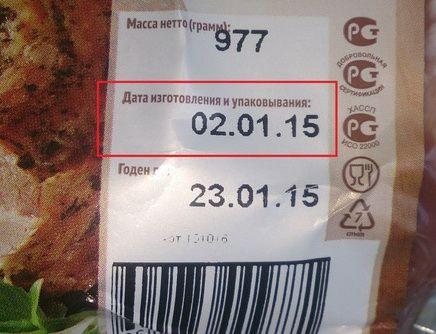 продукты и срок годности