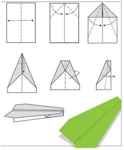 самолет из бумаги схемы