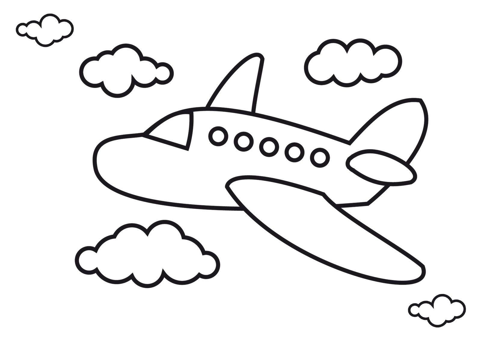 Biplane coloring page